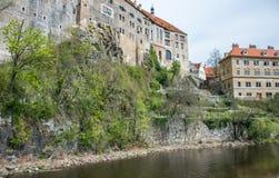 Old buildings of Cesky Krumlov in South Bohemia Royalty Free Stock Image