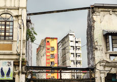 Old buildings at Chinatown in Kuala Lumpur, Malaysia.  Royalty Free Stock Photos