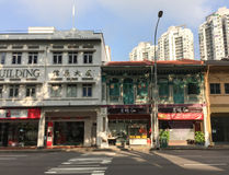 Old buildings at Chinatown in Singapore Stock Images