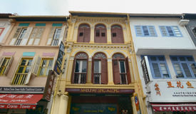 Old buildings in Chinatown. Singapore - Aug 30, 2015. Many old shops located in Chinatown of Singapore. As the largest ethnic group in Singapore is Chinese Stock Photography