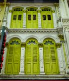 Old buildings in Chinatown, Singapore royalty free stock photos