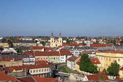 Old buildings and church cityscape Eger Royalty Free Stock Image