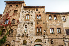 Old Buildings on Cisterna Sq.-San Gimignano,Italy Royalty Free Stock Photos
