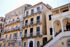 Old buildings, city of Corfu, Greece, Europe Royalty Free Stock Photo
