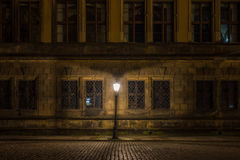 The old buildings in city Dresden at night.  Stock Photos