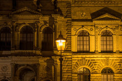 The old buildings in city Dresden at night.  Stock Image