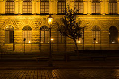 The old buildings in city Dresden at night.  Royalty Free Stock Photos