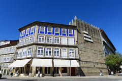 Old Buildings and City Walls in Guimarães, Portugal Stock Images
