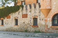Old buildings in Codorniu winery in Sant Sadurni d'Anoia, Spain royalty free stock photos