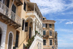Old buildings Corfu town Royalty Free Stock Photography
