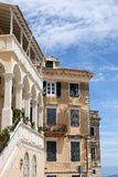 Old buildings Corfu town Royalty Free Stock Photo