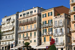 Old buildings Corfu town Royalty Free Stock Image