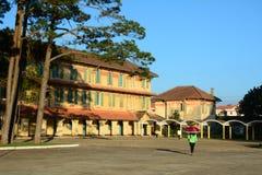 Old buildings at Dalat city in Vietnam Stock Photo