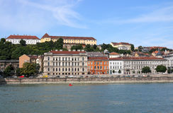 Old buildings on Danube riverside Budapest Royalty Free Stock Photo