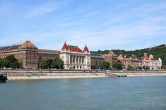 Old buildings on Danube riverside Budapest Stock Image