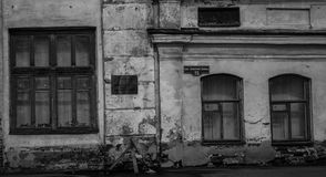 Old buildings with different architecture. Stand in the neighborhood royalty free stock images
