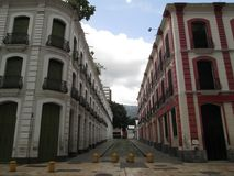 Old buildings in downtown colonial area of Caracas Venezuela.  royalty free stock photo