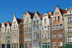 Old buildings in downtown Gdansk, Poland Stock Photos
