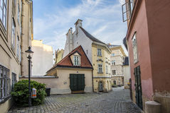 Old buildings in the first district in vienna Royalty Free Stock Photo