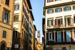 Old buildings in Florence, Italy. stock photo