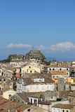 Old buildings and fortress Corfu town Royalty Free Stock Images