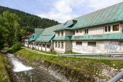 Old buildings, garages and workshops in Zakopane Stock Photography