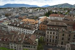 Old buildings in Geneva, Switzerland Stock Photography