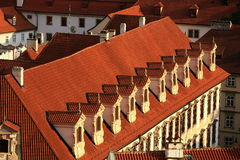 The old buildings on the grounds of Prague Castlein Hradcany, Czech republic Stock Photos
