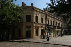 Old buildings in Harbin. stock photography