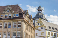 Old buildings in the historical center of Paderborn Stock Photos