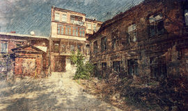 Old buildings in historical downtown of Kharkov. Ukraine. Stock Photo