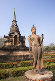 Old buildings in the Historical Park in Sukhothai stock images