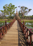 Old buildings in the Historical Park in Sukhothai royalty free stock photos