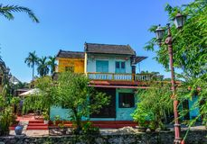 Old buildings in Hoi An, Vietnam stock images