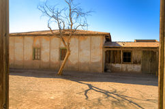 Old Buildings in Humberstone, Chile Royalty Free Stock Photo
