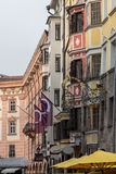 Old buildings in Innsbruck, Austria stock photography