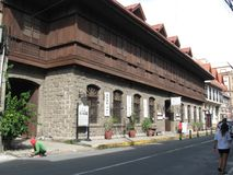 Old buildings in Intramuros, old walled city, Manila, Philippines stock photos