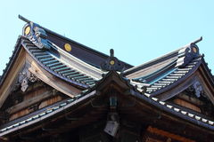 Old buildings in Japan royalty free stock photo