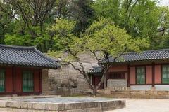 Old buildings at the Jongmyo Shrine in Seoul Stock Photos