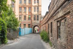 Old Buildings in Kharkiv city. Old buildings street in kharkiv ukraine Royalty Free Stock Images