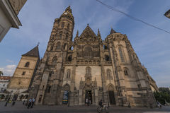 Old buildings on Kosice main square Royalty Free Stock Images