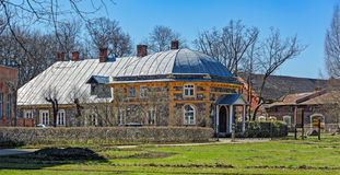 Old buildings in Krimulda manor Stock Image