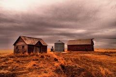 Old buildings in Western North Dakota. Old buildings left in western North Dakota Stock Photography
