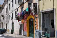 Old buildings in Lisbon, Portugal Royalty Free Stock Photo
