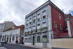 Old buildings in Lisbon, Portugal Stock Photography