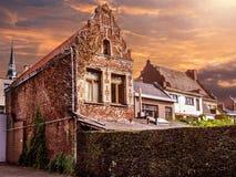 Old buildings of Maaseik town. Belgium Royalty Free Stock Photo