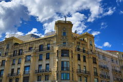 The old buildings in Madrid, Spain Stock Images