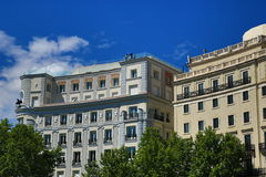 The old buildings in Madrid, Spain Stock Photos
