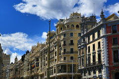 The old buildings in Madrid, Spain Royalty Free Stock Photography
