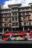 The old buildings in Madrid, Spain Stock Photography